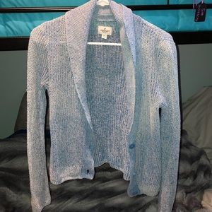 American eagle blue and white cardigan